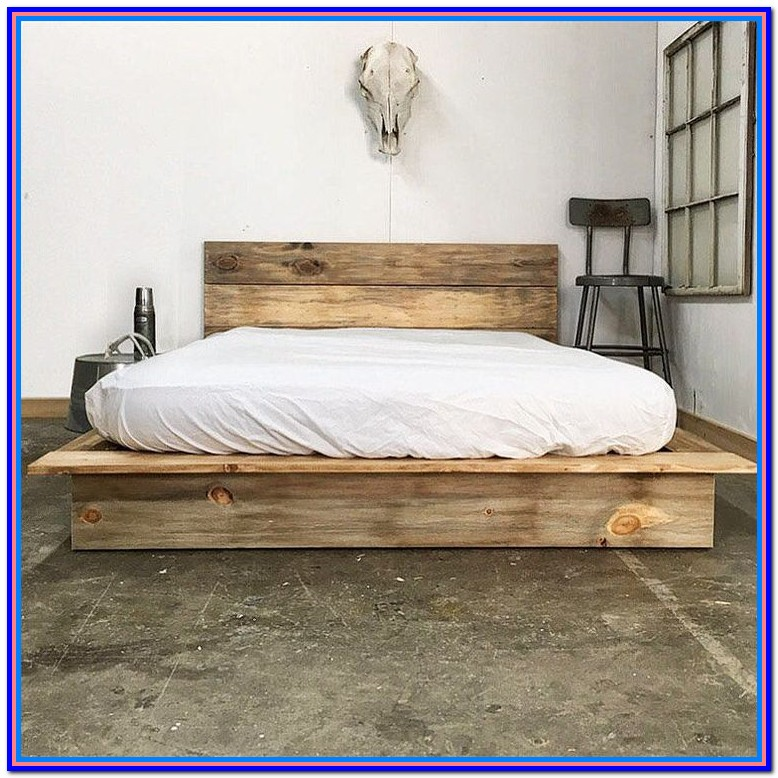Rustic Wood Bed Frame Plans