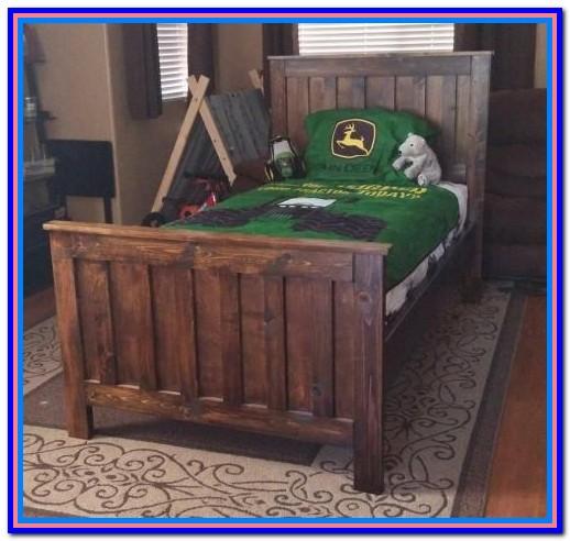 Rustic Wood Bed Frame Queen
