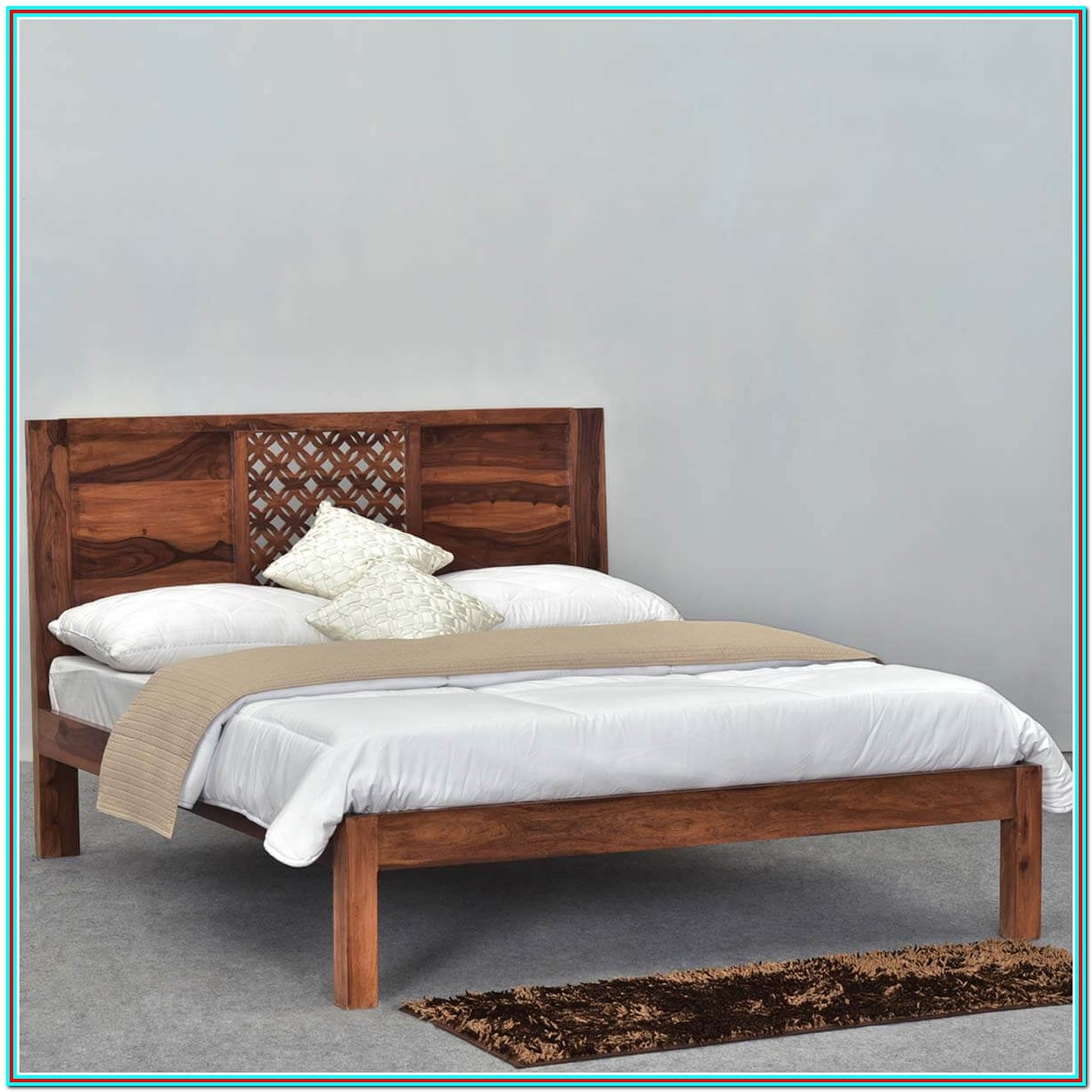 Rustic Wood Platform Bed Frame
