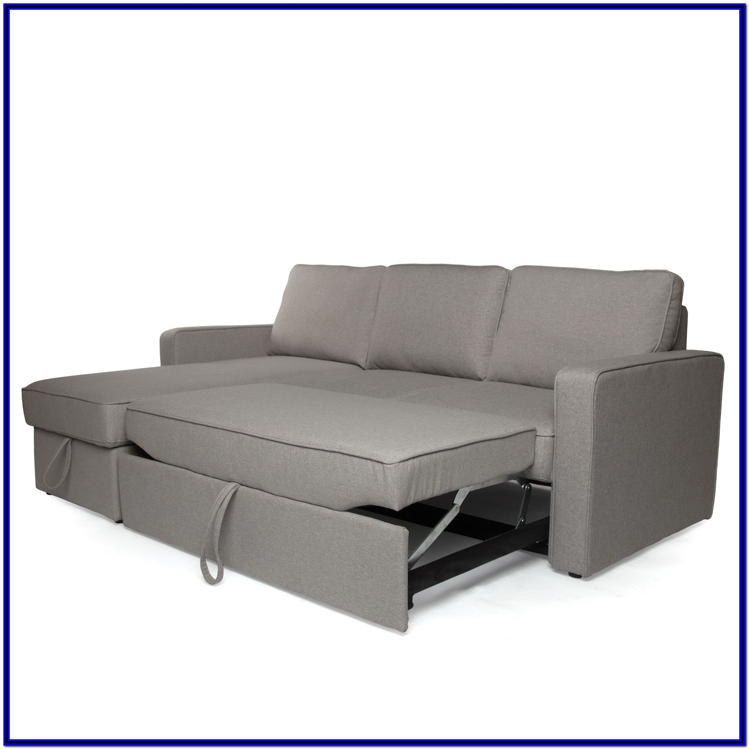 Sectional Sofa Pull Out Sleeper Bed Chaise Underneath Storage