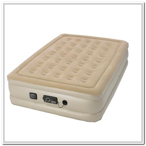 Serta Raised Air Bed With Neverflat Pump Queen