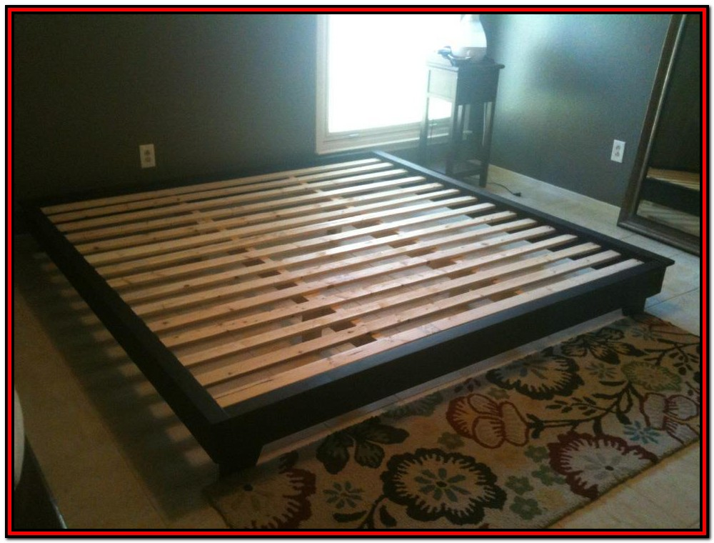 Simple King Platform Bed Frame Plans