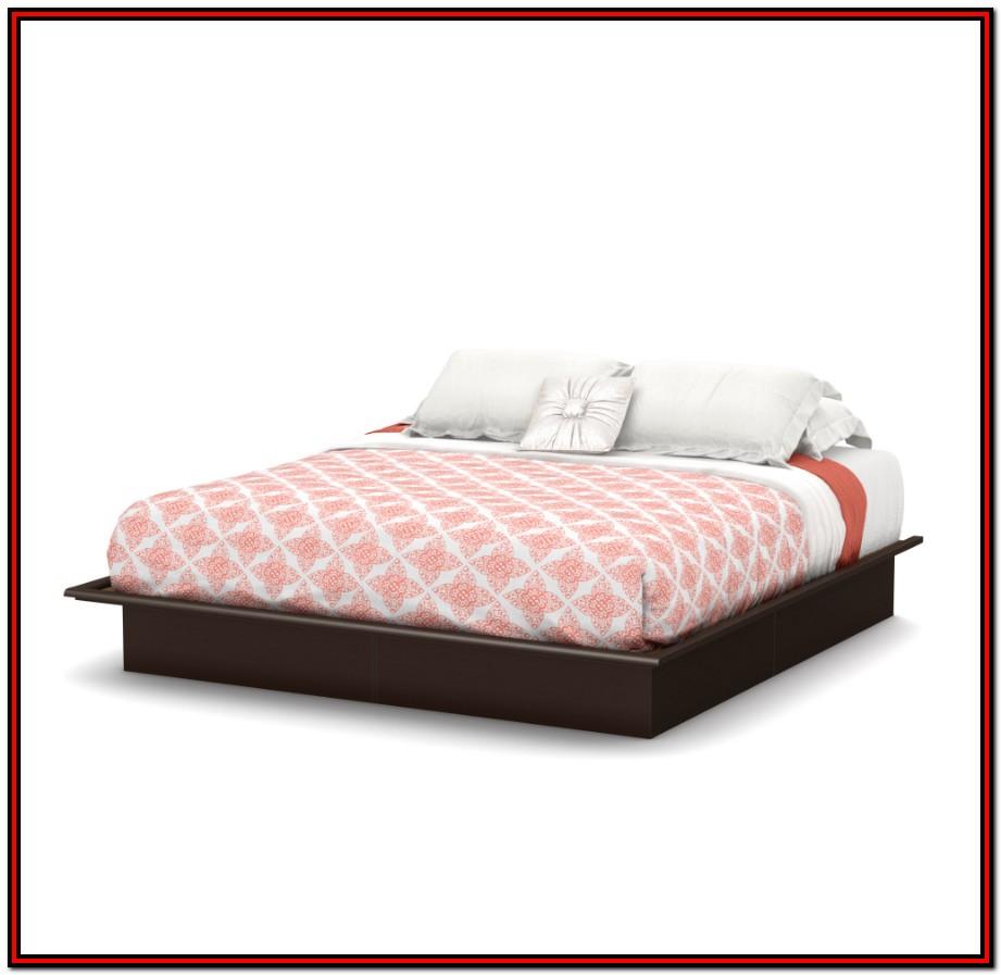 South Shore Basics Full Platform Bed With Molding 54'' Multiple Finishes
