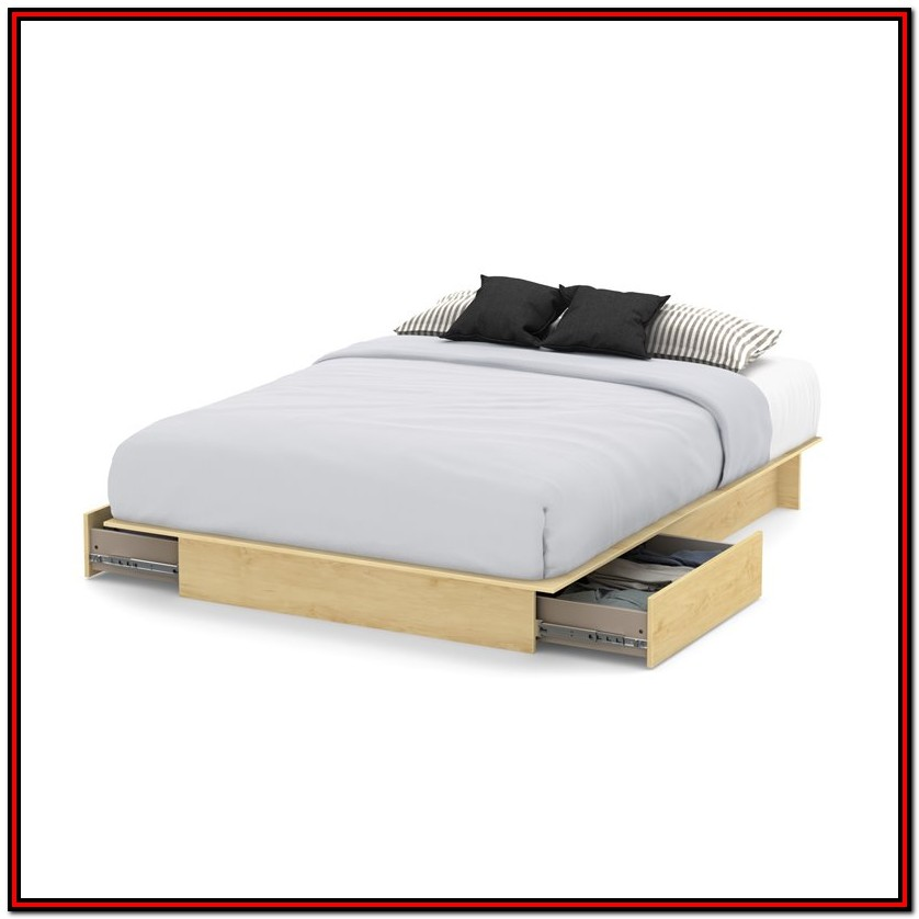 South Shore Full Platform Bed With Drawers