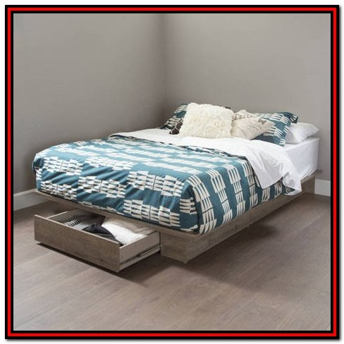 South Shore Platform Bed With Drawers