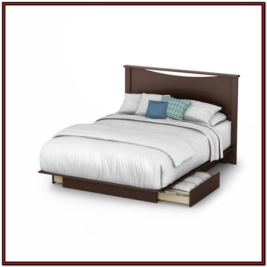 South Shore Queen Platform Bed With Storage