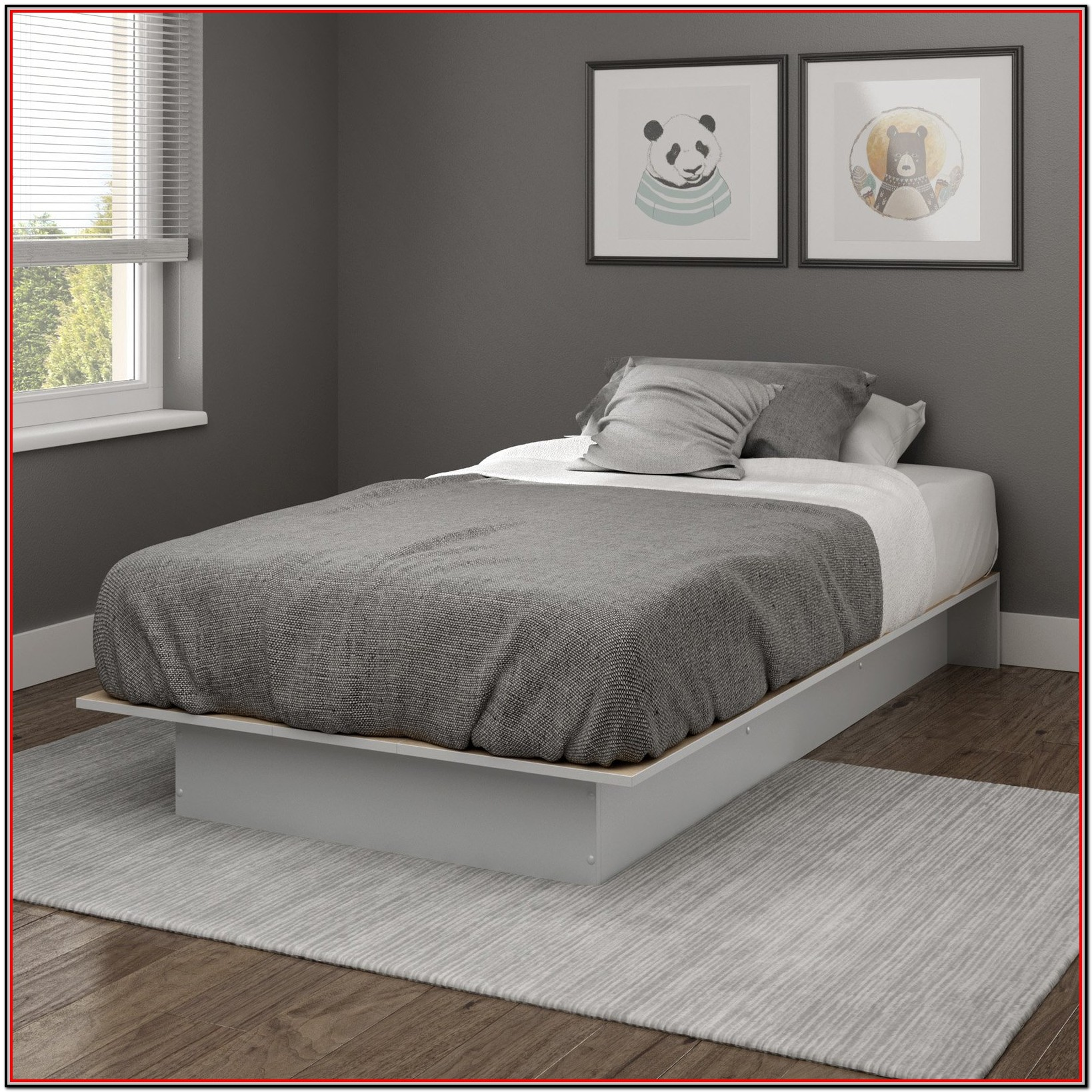 South Shore Smart Basics Twin Platform Bed 39'' Multiple Finishes