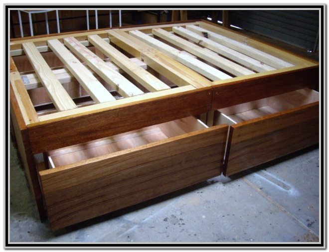 Storage Bed Frame Queen Plans