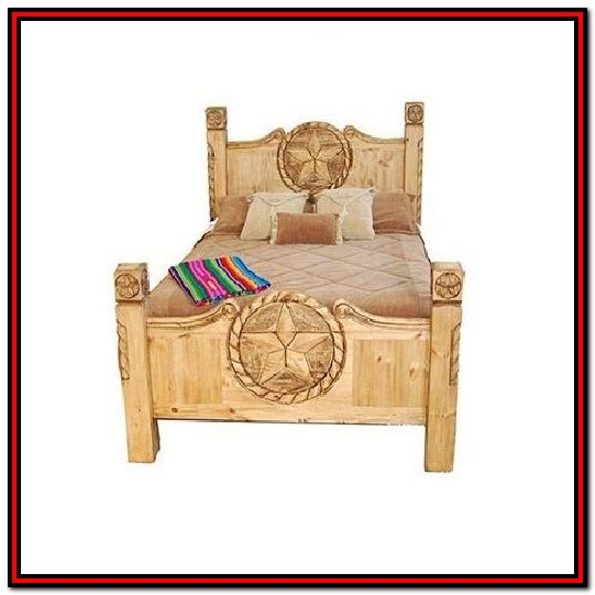Texas Rustic King Size Bed