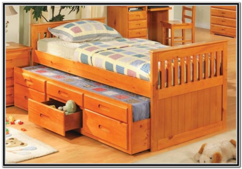 Trundle Bed With Storage Drawers