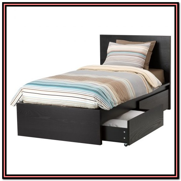 Twin Bed Frame Mattress Set