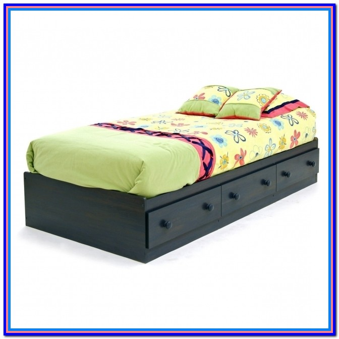 Twin Bed Frame With Storage Underneath Diy