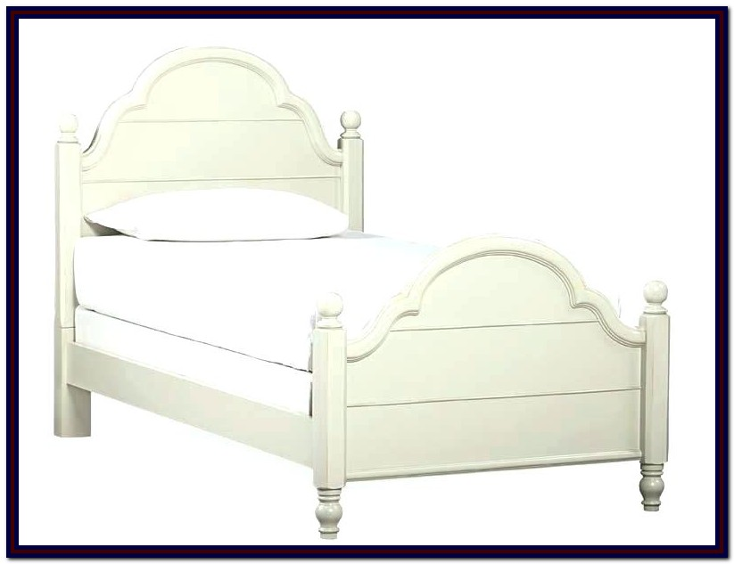 Twin Bed Frame Wood White