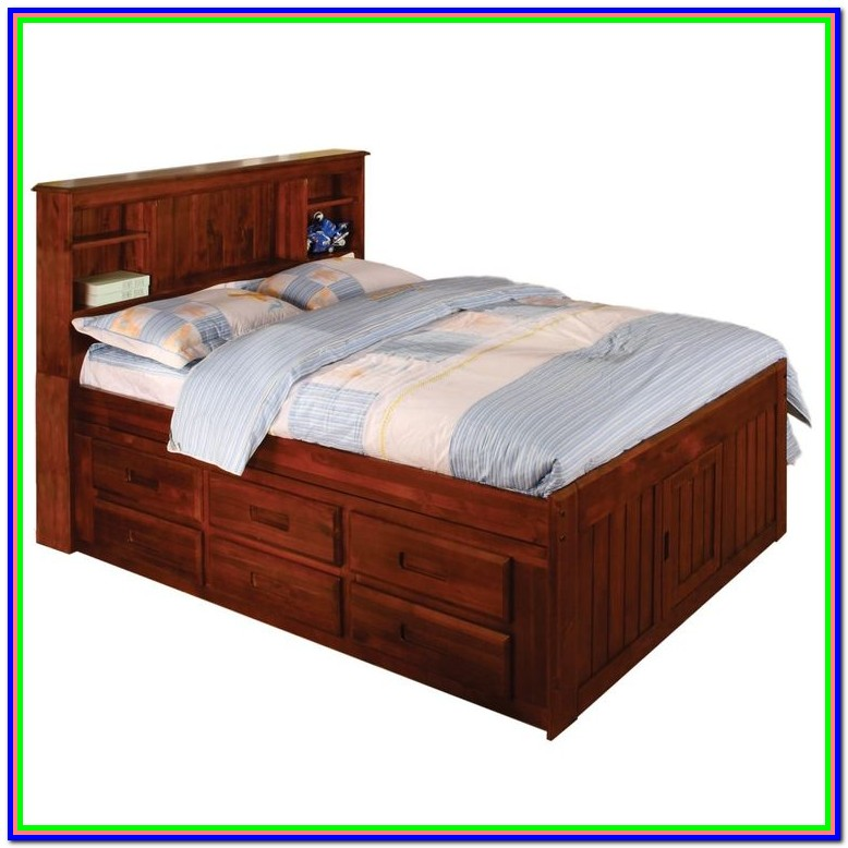 Twin Bed With Shelves Underneath