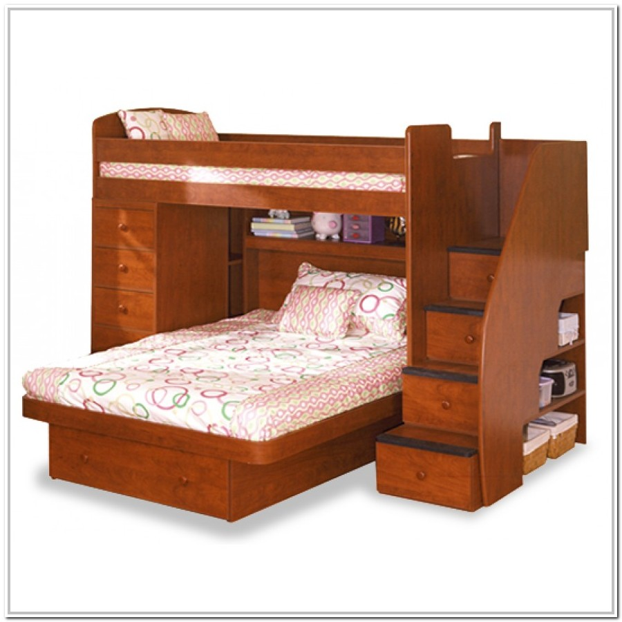 Twin Bunk Bed With Stairs Plans