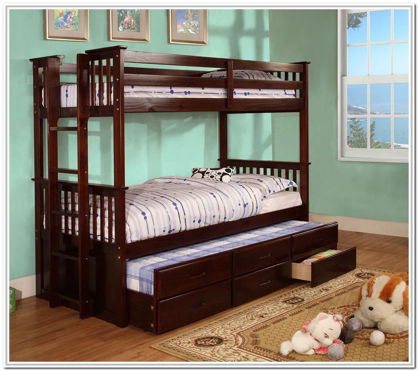 Twin Bunk Beds With Trundle And Drawers