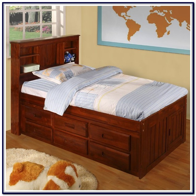Twin Captain Bed With 4 Drawers