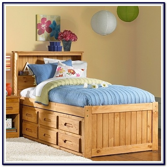 Twin Captains Bed With Six Drawers