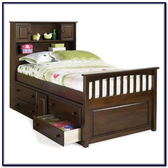 Twin Captains Bed With Storage Drawers