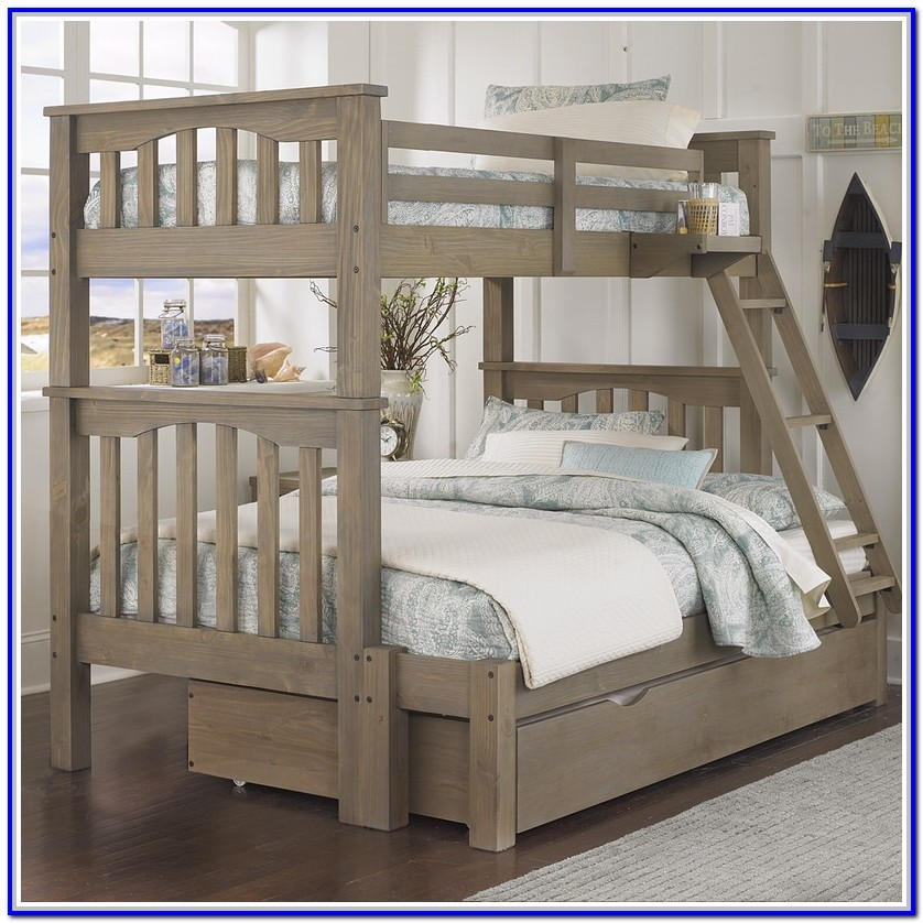 Twin Full Bunk Bed With Mattresses