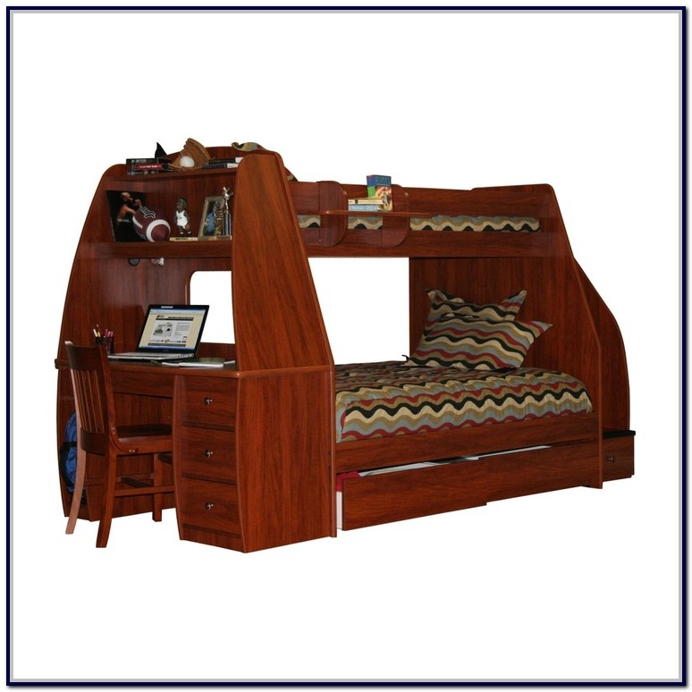 Twin Loft Bed With Drawers And Desk