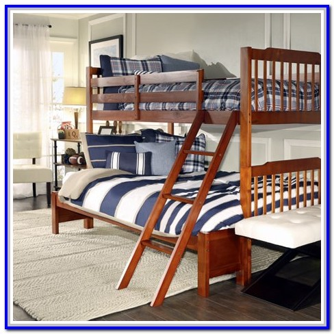 Twin Over Full Bunk Bed With Mattress Bundle