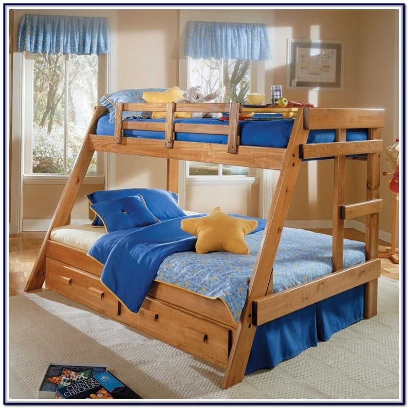 Twin Over Full Wooden Bunk Beds