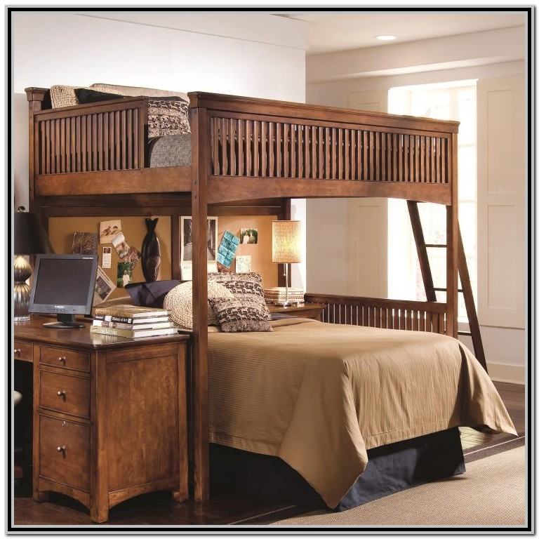 Twin Over Queen Bunk Bed Plans With Stairs