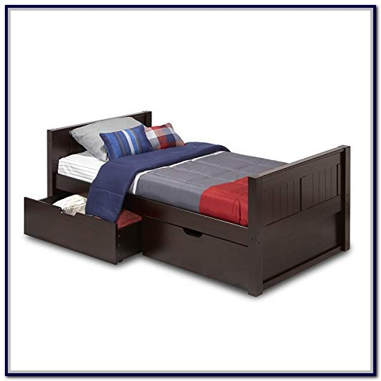 Twin Platform Bed With Drawers Solid Wood