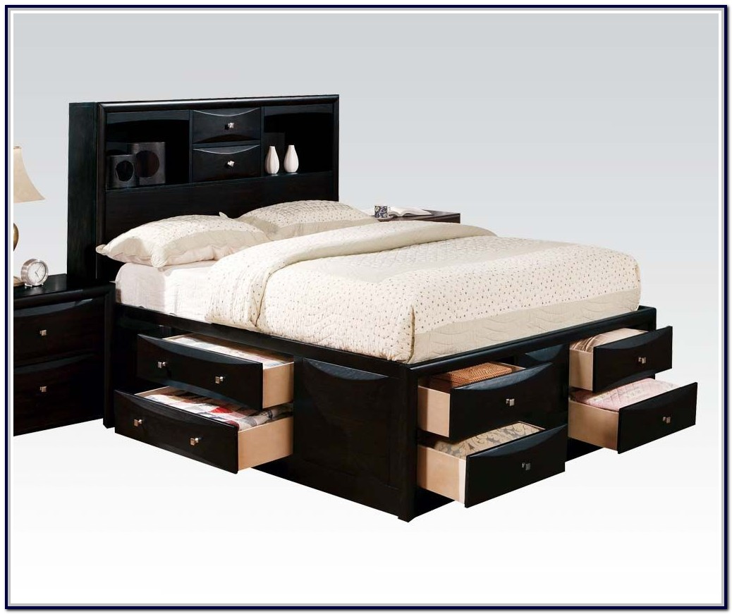 Twin Size Captains Bed With Drawers