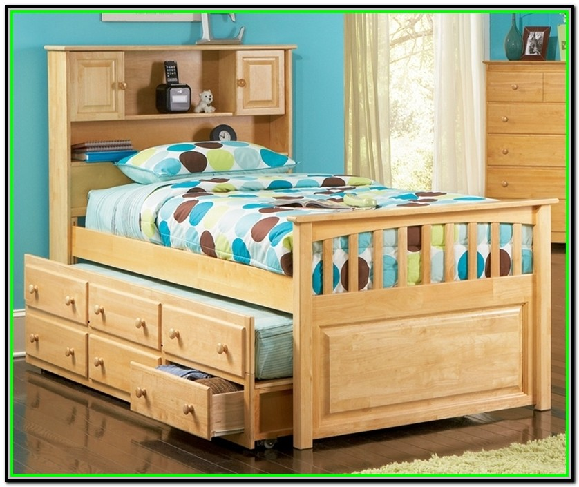 Twin Size Captains Bed With Trundle