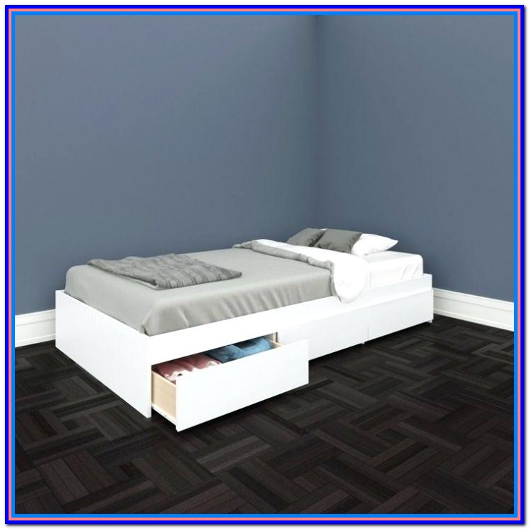 Twin Size Platform Bed With Storage Plans