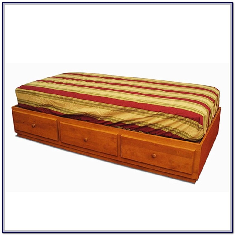 Twin Xl Platform Bed With Drawers