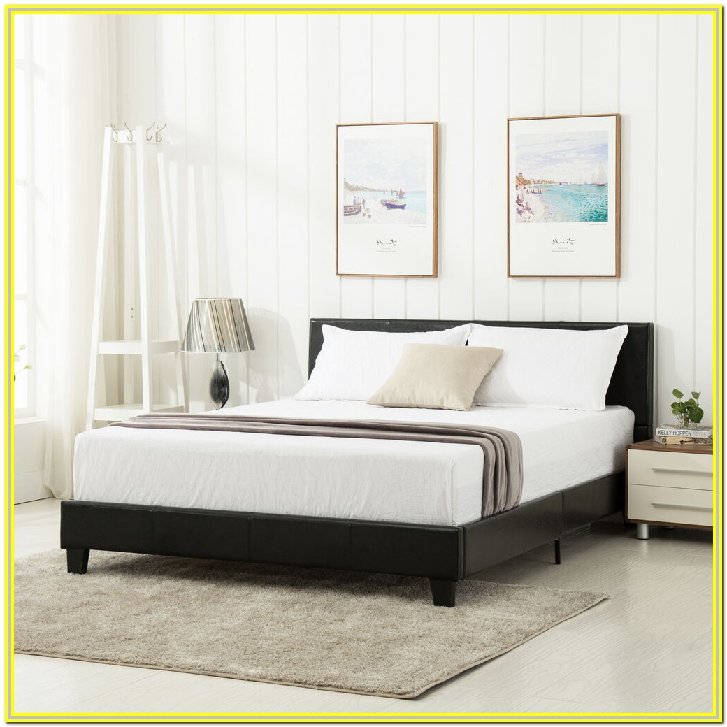 Upholstered Bed Frame And Headboard King