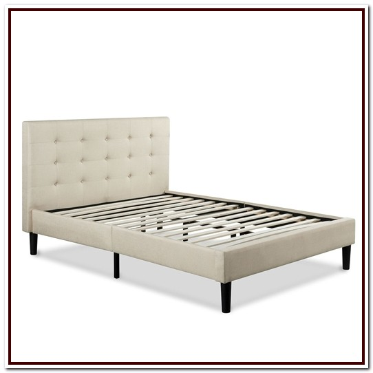 Upholstered King Bed Frame With Headboard