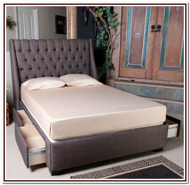Upholstered King Bed Frame With Storage
