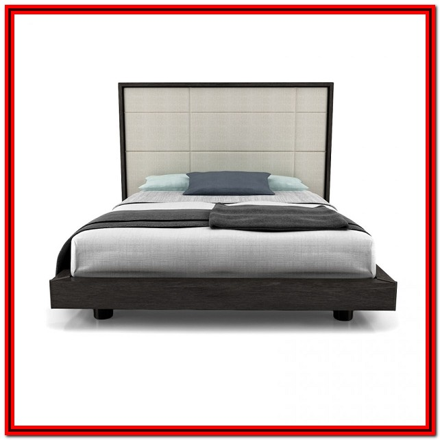 Upholstered Platform Bed King Size
