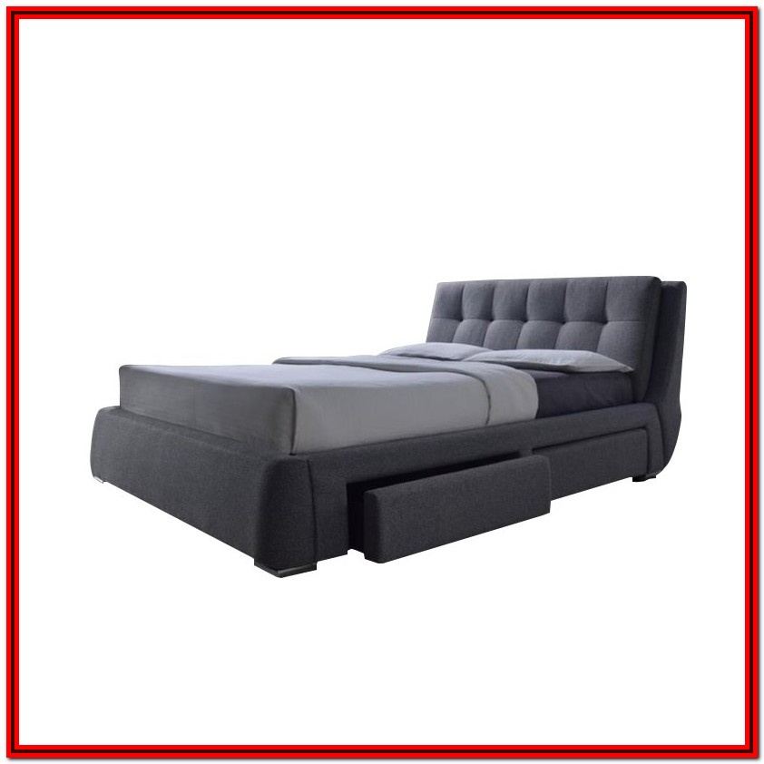 Upholstered Platform Bed King With Storage