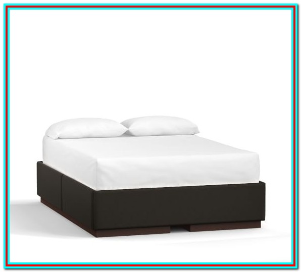 Upholstered Platform Bed With Storage Drawers