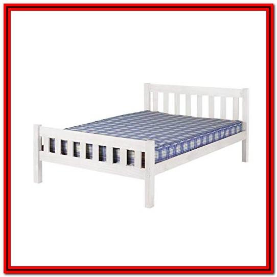 White King Size Bed Frame Amazon