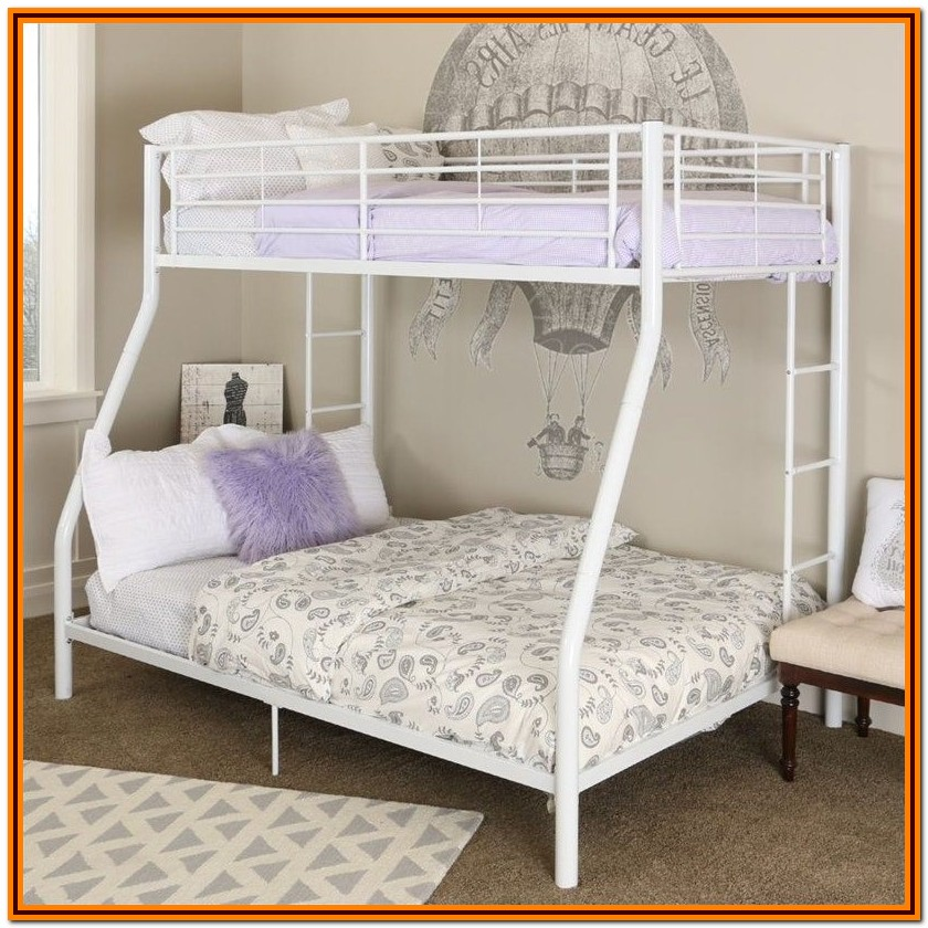 White Metal Bunk Beds Twin Over Twin