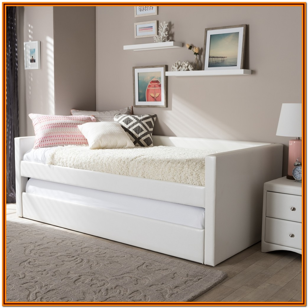 White Twin Bed Frame With Trundle