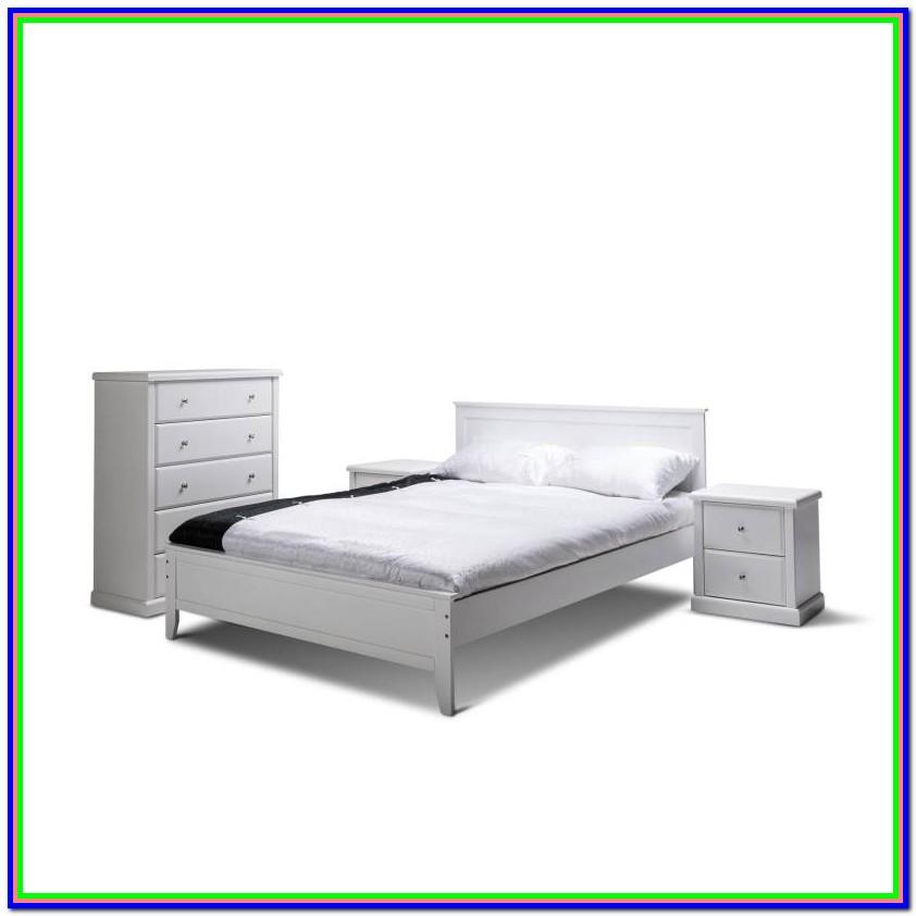White Wooden Bed Frames Queen