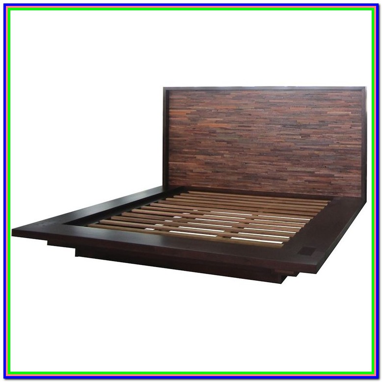 Wood Queen Platform Bed Frame