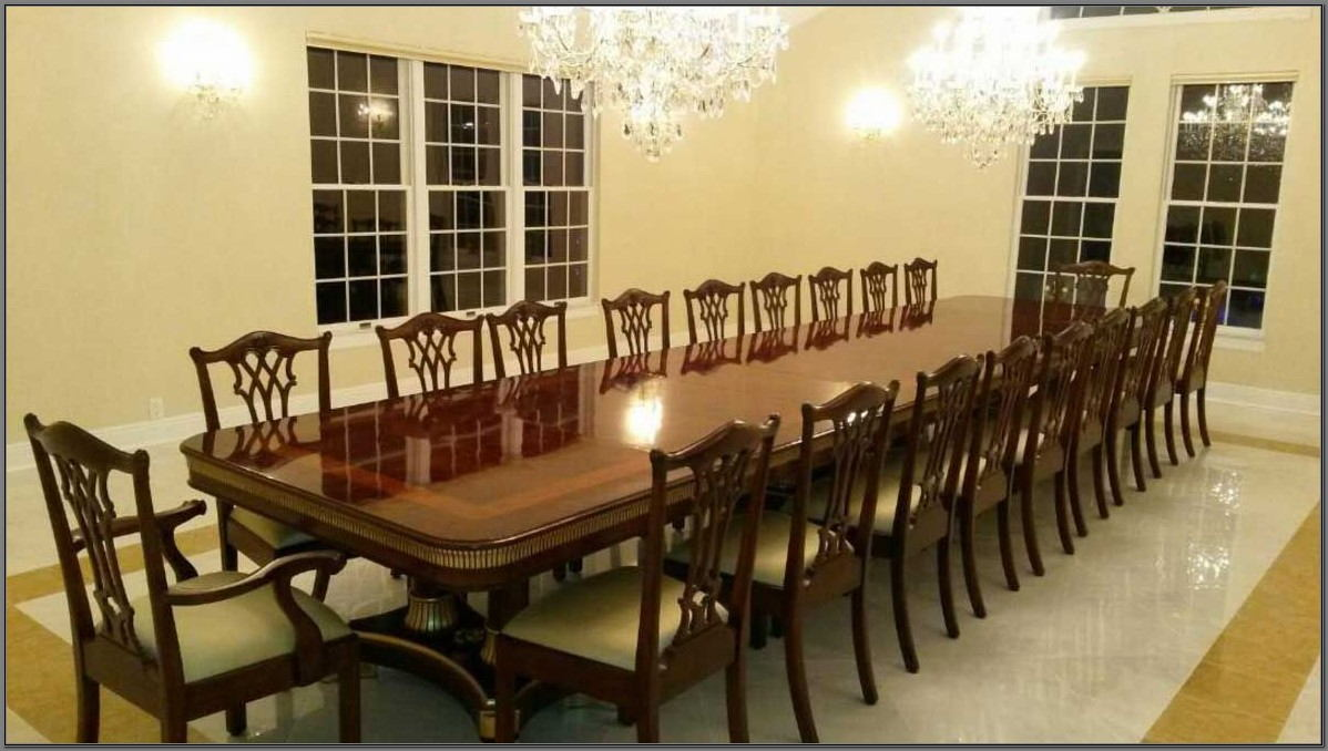20 Person Dining Room Table