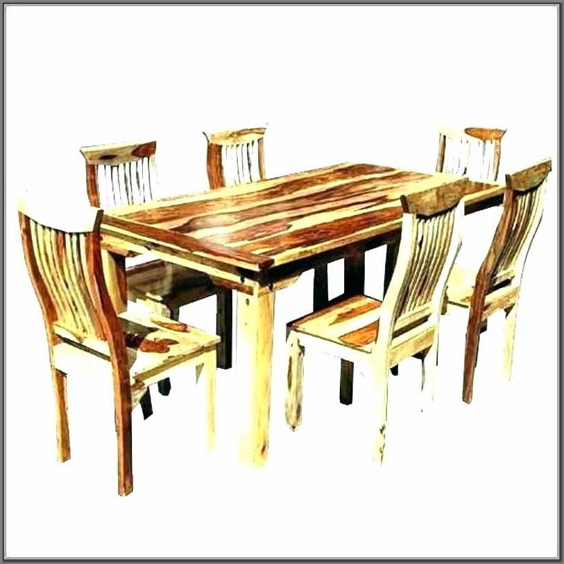 4 Wooden Dining Room Chairs