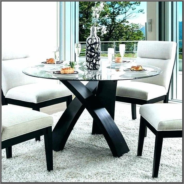 5 Piece Glass Dining Room Set