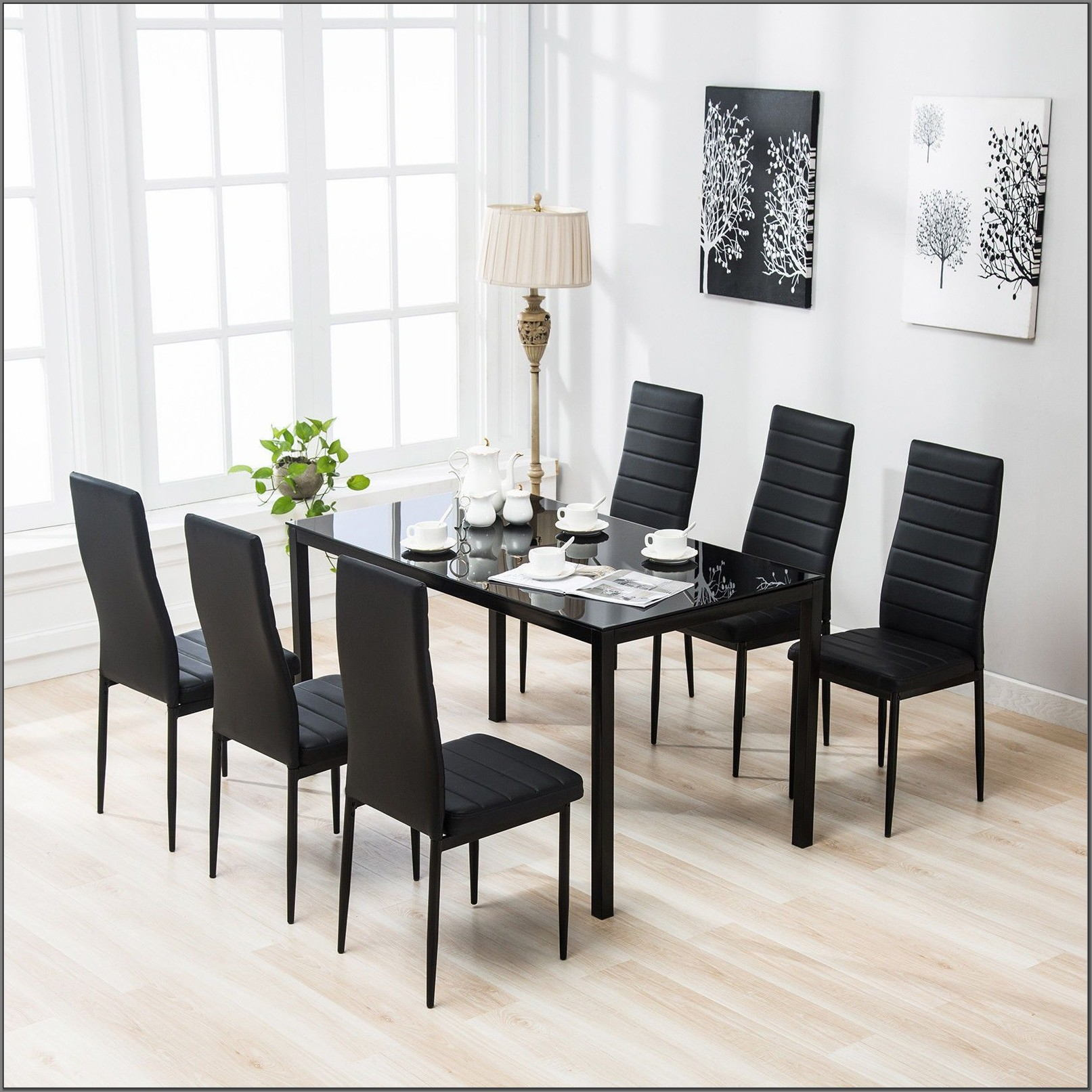 7 Piece Glass Dining Room Set