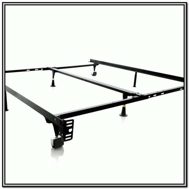 Adjustable Metal Bed Frame With Wheels