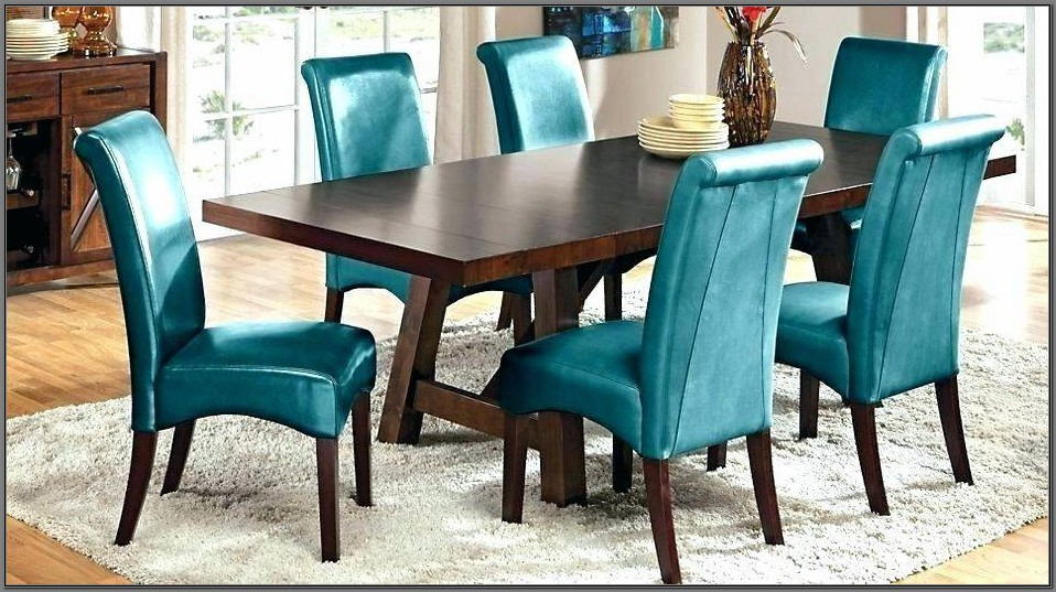 Aqua Blue Dining Room Chairs